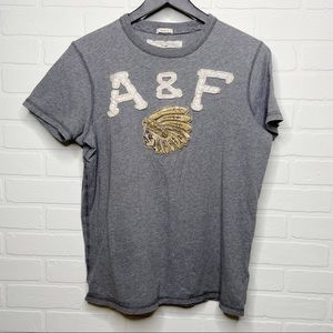 Abercrombie & Fitch muscle slim fit logo tee L